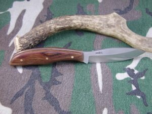 Belt Knife - AEB-L Stainless Steel - Chechen Wood Handle #135