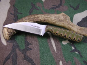 Warencliffe Style Knife - AEB-L Stainless Steel - Camo G10 Handle #136